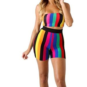 Tops - Two piece rainbow outfit